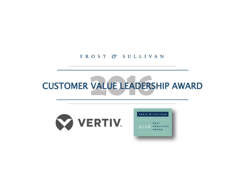 Vertiv Honored with the 2016 Frost & Sullivan Leadership Award for its Modular Data Center Portfolio Image
